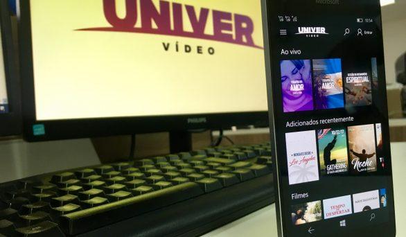 NOVIDADE: Está disponível o aplicativo do Univer Vídeo para Windows Phone. Baixe agora mesmo!