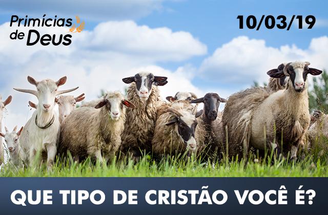 primícias_de_deus_que_tipo_de_cristão_você_é_2019_03_10 Bode ou ovelha: Que tipo de cristão você é?