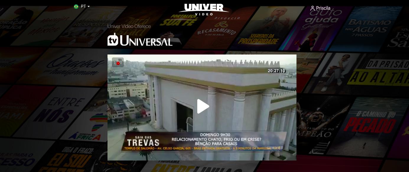 tvuniversal NOVIDADE: Univer Vídeo oferece TV Universal para todos!