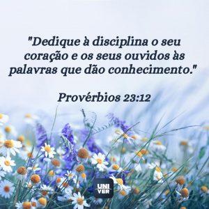 Versículo sobre disciplina 1