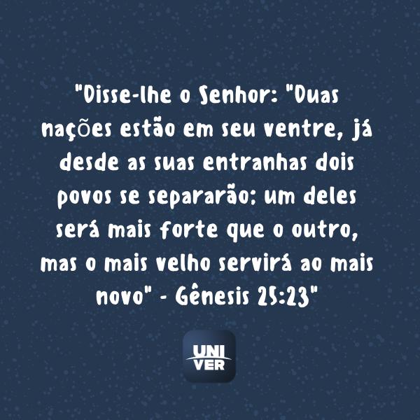 Gênesis - Versículo - Univer Vídeo