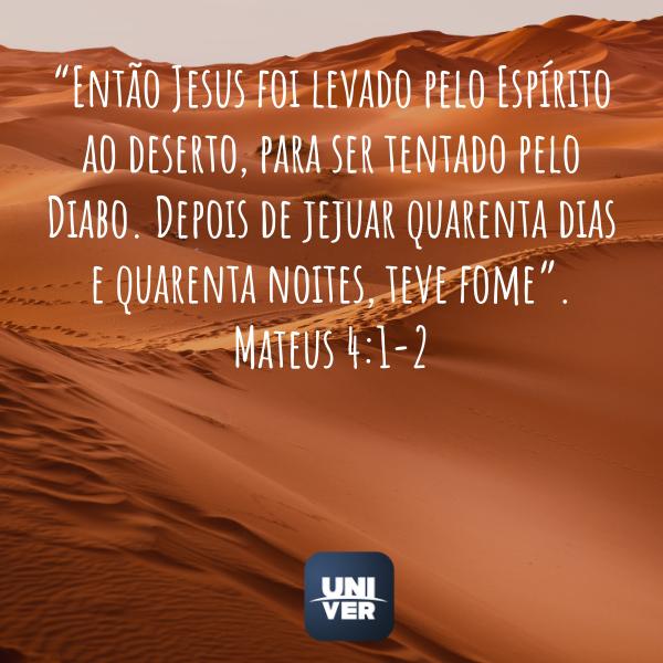 Mateus 4:1 - 2 - Jejum de Daniel - Univer Vídeo