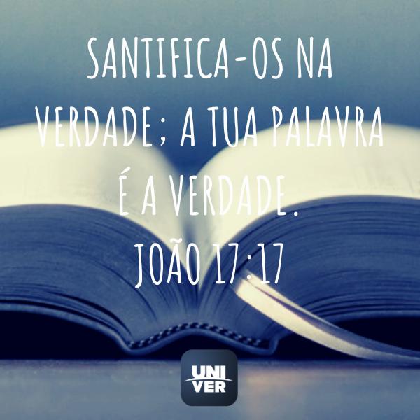 Versículos - João 17:17 - Univer Vídeo