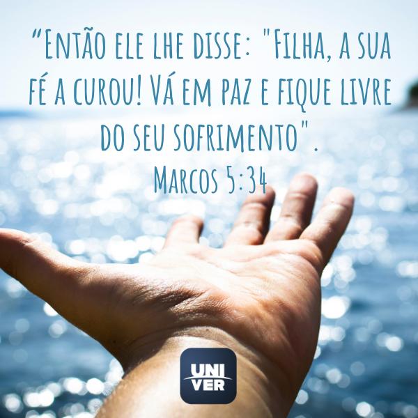 Marcos 5:34 - Univer Vídeo - Cura