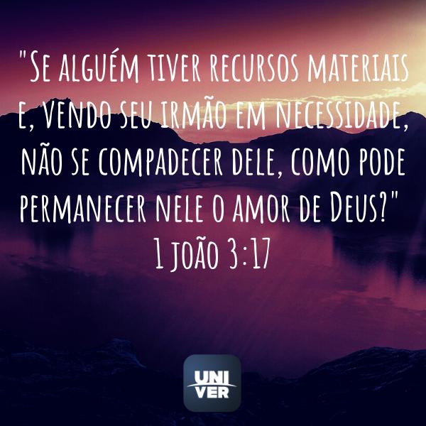 1 João 3: 17 - Univer Vídeo