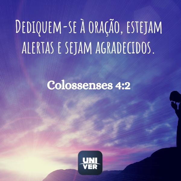 Colossenses 4:2 - Jejum de Daniel - Univer Vídeo