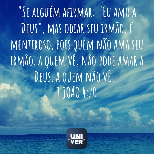 1 João 4:20 - Univer Vídeo