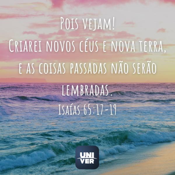 Isaias 65:17-19 - Univer Vídeo - Fim dos Tempos