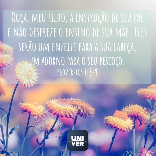 Provérbios 1:8-9 - Univer Vídeo