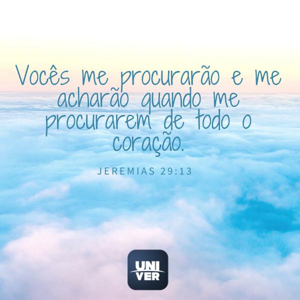 Jeremias 29: 13 - Univer Vídeo