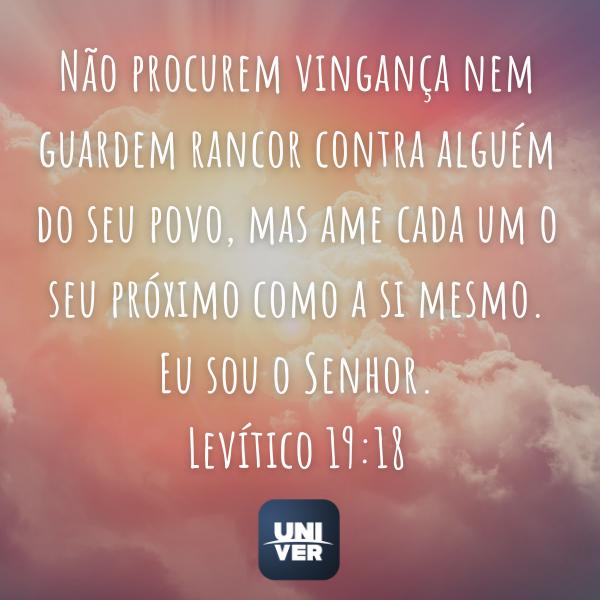 Levítico 19:18 - Univer Vìdeo