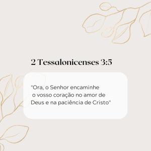 2 Tessalonicenses 3:5