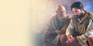 Paulo e Lucas em filme Paulo, apóstolo de Cristo